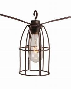 Caged Patio Lights The Home Depot Retro Caged Caf 233 String Lights 8l The