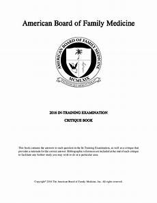 American Board Of Family Medicine American Board Of Family Medicine Aafp 2016 Answer