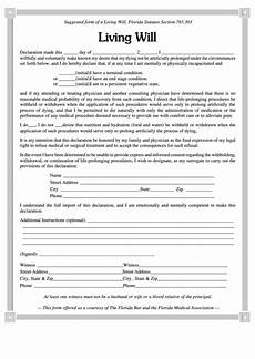 Free Downloadable Will Forms Living Will Form Printable Pdf Download