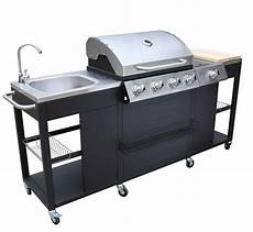 professional kitchen barbecue outdoor cooking station gas