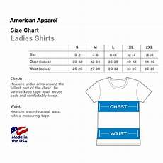 American Rag Size Chart Women S American Apparel Size Charts Hypercandy