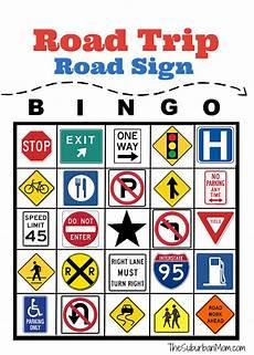 Printable Sign Road Trip Road Sign Bingo Free Printable