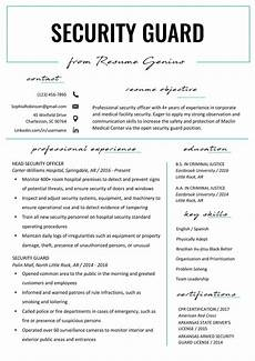 Security Job Resume Security Guard Resume Sample Amp Writing Tips Resume Genius