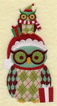 retro gifts owl machine embroidered quilt blocks