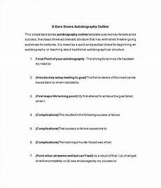 Auto Biography Outline 7 Autobiography Outline Template Doc Pdf
