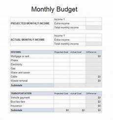 Budget Sheets Templates Free 6 Sample Budget Spreadsheets In Pdf Excel Ms Word