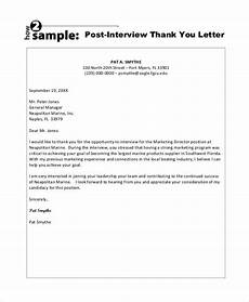 Examples Of Thank You Letters After An Interview 13 Sample Interview Thank You Letters Doc Pdf Free