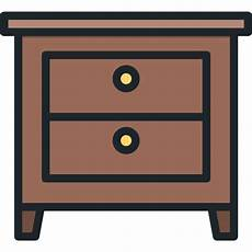 nightstand free furniture and household icons