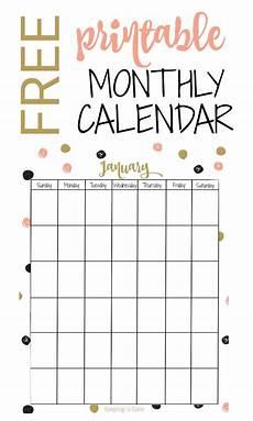 Free Blank Printable Calendars Free Printable Monthly Calendar Free Printable Calendar