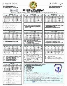 Dsny 2019 Chart Calendar Al Madinah School