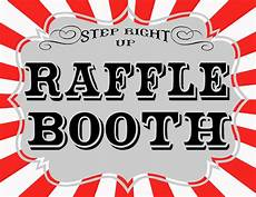 Raffle Ticket Signs Carnival Printables Revisited The Red Balloon