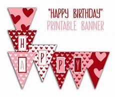 Printable Happy Birthday Banner Happy Birthday Banner Birthday Party Printable Sign Red