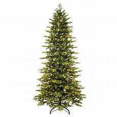 7 5 Slim Christmas Tree With Led Lights 7 5 Ft Pre Lit Slim Artificial Christmas Tree With 800