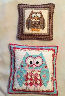 applique patchwork patchwork quilting applique pretty owl cushions sewing