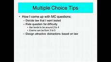 Creating Multiple Choice Tests Multiple Choice Test Taking Tips Youtube
