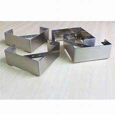 4 pc l shape stainless steel legs furniture sofa cabinet