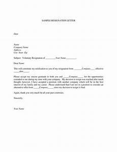 Resignation Letter Simple Polite Resignation Letter Format