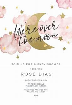 Free Evite Templates Over The Moon Baby Shower Invitation Template