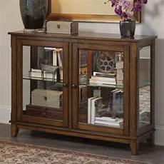 liberty furniture hearthstone console curio cabinet