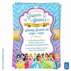 Printable Disney Princess Invitations Disney Princesses Birthday Invitation Style 02
