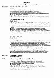 Collection Manager Resume Collection Manager Resume Samples Velvet Jobs