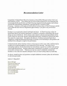 Letter Of Recommendation For Office Manager Recommendation Letter