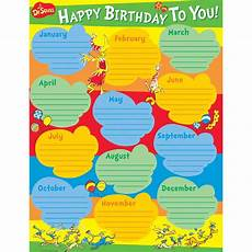 School Birthday Calendar Dr Seuss Birthday School Chart Eureka School