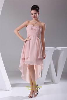 dusty pink chiffon bridesmaid dress high low homecoming