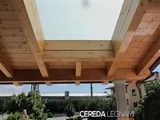 tettoia in legno tettoia con vetrata cereda legnami agrate brianza