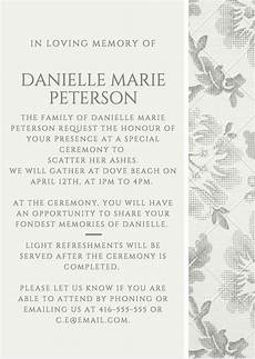 Sample Of Funeral Invitation 39 Best Funeral Reception Invitations Love Lives On