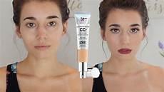It Cosmetics Cc Cream Light First Impression Amp Review It Cosmetics Cc Cream Youtube