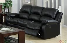 kaden black bonded leather reclining sofa and loveseat set