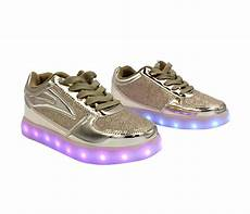 Kids Gold Light Up Shoes Galaxy Led Shoes Light Up Usb Charging Low Top Kids