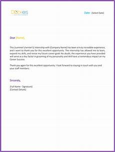 End Of Internship Letter From Employer Internship Thank You Letter 5 Letters You Should Consider