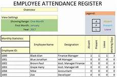 Absenteeism Report Template Daily Employee Attendance Sheet In Excel Template
