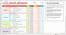 Weekly Planner Excel Template Weekly Meal Planner Excel Template Savvy Spreadsheets