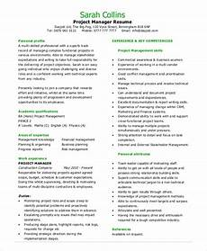 Project Manager Resume Objectives Sample Project Management Resume 8 Examples In Pdf Word