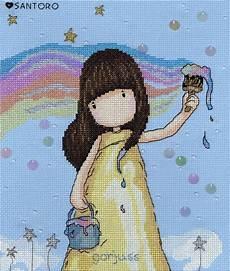 Gorjuss Cross Stitch Charts Gorjuss Rainbow Dreams Cross Stitch Kit Only 163 26 26