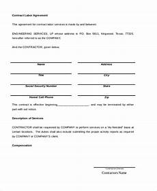 Sample Contract Forms Free 7 Sample Contract Agreement Forms In Pdf Ms Word