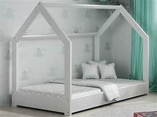 children toddler bed house white pinewood wooden bed