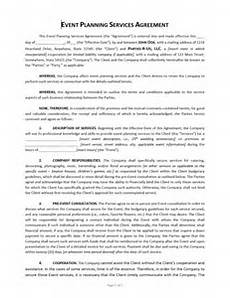Event Planner Contract Templates Event Planning Contract Template Approveme Free