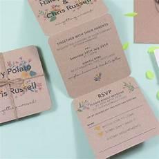 Tri Fold Invitation Templates Floral Tri Fold Wedding Invitation By Paper And Inc