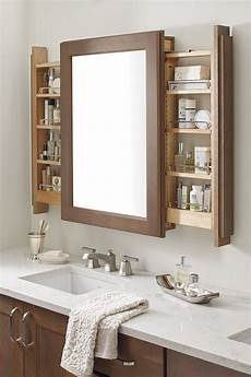 vanity mirror cabinet with side pull outs