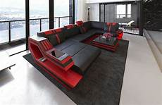 Couch Led Lights Leather Sectional Sofa Ravenna U Shape Corner Sofa Led