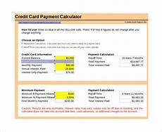 Free Downloadable Calculator 10 Sample Credit Card Payoff Calculators Sample Templates