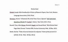 Work Cited Entry Mla Works Cited Page