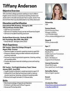 Resume English Template Teaching English Online How To Create A Killer Resume