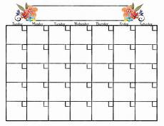 Blank Caledar These Free Blank Calendars Are The Perfect And Pretty