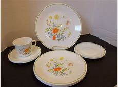 CORELLE DINNERWARE SET WILDFLOWER DINNER LUNCHEON PLATES