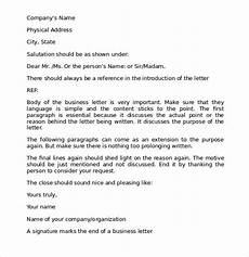 Correct Format For A Business Letter Free 7 Proper Business Letter Formats In Pdf Ms Word